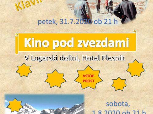 Kino pod zvezdami v Logarski dolini