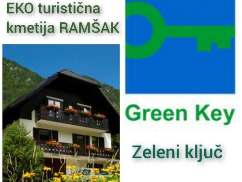 TK RAMŠAK so postali člani družine GREEN KEY / ZELENI KLJUČ!