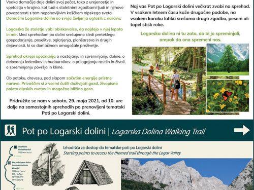Prenovljena tematska Pot po Logarski dolini, 29. maja od 10 ure dalje